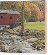 Morning At The Park Wood Print