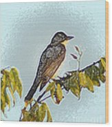 Morning Bird Wood Print