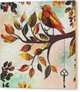 Morning Bird Wood Print