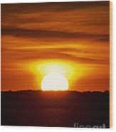 Morning Blaze Wood Print