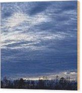 Morning Blue Wood Print