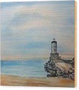 Angel's Gate Lighthouse Wood Print