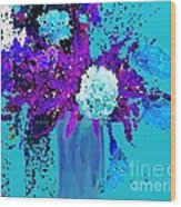 Morning Callas And Orchids  Wood Print