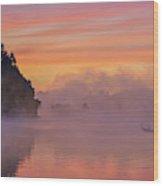 Morning Fishing Wood Print