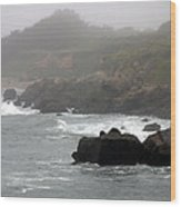 Morning Fog - Pacific Coast Highway No. 2 Wood Print