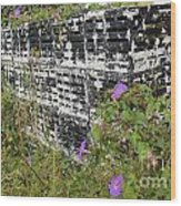Morning Glories And Crab Traps Wood Print by Theresa Willingham