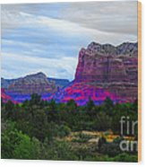 Glorious Morning In Sedona Wood Print