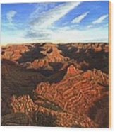 Morning Glory - The Grand Canyon From Kaibab Trail  Wood Print