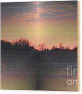 Morning Glow On A Frosty Day Wood Print