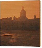 Morning Glow Over City Hall Wood Print