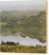 Morning Haze On Lough Bofin Wood Print