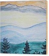 Morning Hills Wood Print