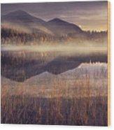 Morning In Adirondacks Wood Print