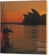 Morning In Sydney Harbour Wood Print