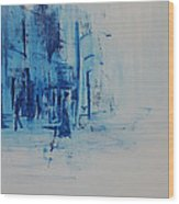 Morning In The City Wood Print