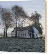 Morning In Whitemarsh - Widener Farms Wood Print