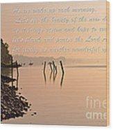 Morning Inspiration Wood Print