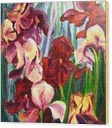 Morning Iris Wood Print
