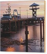 Morning Light At Port Angeles Wood Print
