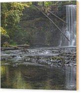 Morning Light At Upper North Falls Wood Print