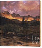 Morning Light Maligne Pass Wood Print