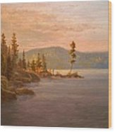 Morning Light On Coeur D'alene Wood Print by Paul K Hill