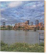 Morning Light Upon Downtown Little Rock - Arkansas - Skyline Wood Print