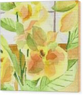 Morning Magnolias Wood Print