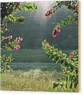 Morning Marsh Wood Print