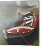 Morning Mist On The Arno River Italy Wood Print