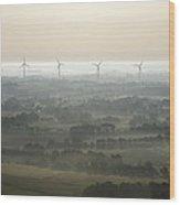Morning Mist, Sarzeau Wood Print