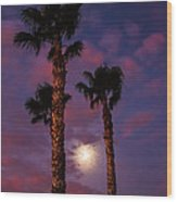 Morning Moon Wood Print by Robert Bales
