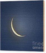 Morning Moon Textured Wood Print