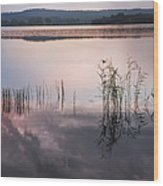 Morning Nocturne. Ladoga Lake. Northern Russia  Wood Print