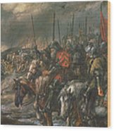 Morning Of The Battle Of Agincourt, 25th October 1415, 1884 Oil On Canvas Wood Print