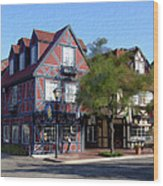 Morning On 2nd Street Solvang California Wood Print