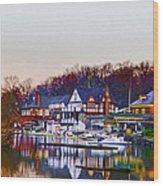 Morning On Boathouse Row Wood Print
