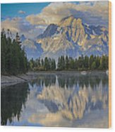 Morning On Colter Bay Wood Print