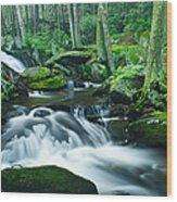 Morning On Hancock Brook Wood Print