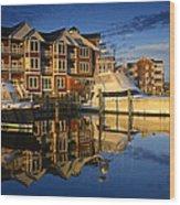 Morning On The Docks Wood Print
