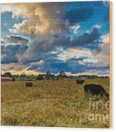 Morning On The Farm Two Wood Print