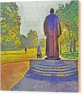 The William Oxley Thompson Statue. The Ohio State University Wood Print