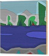 Morning On The Fraser River Near Maple Ridge Wood Print by David Skrypnyk