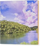 Morning On The Hanalei River Wood Print