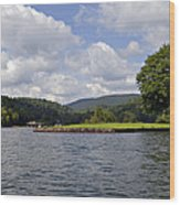 Morning On The Lake Wood Print by Susan Leggett