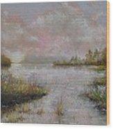 Morning On The Lake Wood Print