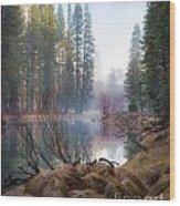 Morning On The Merced Wood Print
