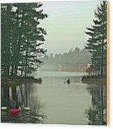 Morning Paddle Wood Print by RJ Martens
