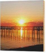 Morning Pier Wood Print