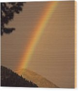 Morning Rainbow Wood Print